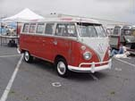 Un-restored Volkswagen 13-window deluxe bus with original paint