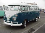 Sea Blue VW 13-window deluxe bus is for sale