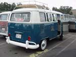 Beautifully restored Volkswagen 13 window deluxe bus is for sale