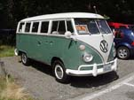 Volkswagen 13-window deluxe bus for sale at the NW Shoreline Meet