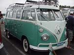1964 VW 21-window bus deluxe samba with dual roof racks