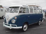 Restored Volkswagen 21-Window samba bus With westy roof rack
