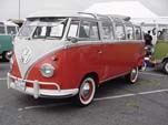 Vintage VW 23-window deluxe-samba bus with safari windows