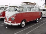 Restored vintage VW 23 Window samba deluxe bus