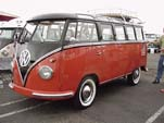 Volkswagen 23 window deluxe samba bus painted chestnut brown and sealing wax red