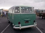 Beautifully restored vintage VW 23-window deluxe samba bus