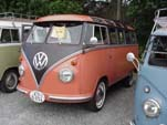 Vintage VW 23 window samba deluxe bus has pressed bumpers