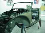 The finish paint coats on the 1954 VW convertible are done