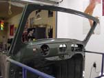 Picture showing the newly painted interior and dash on the 1954 VW convertible