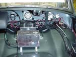 Photo shows new wiring behind the 1954 Volkswagen convertible dashboard