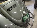 Beatifully restored w engine lid on the restored 1954 Volkswagen convertible bug