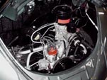 Photo of restored engine in 1954 Volkswagen convertible bug