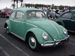 Vintage Volkswagen bug painted stock turquoise L380 color