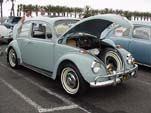 1967 VW bug with stock zenith blue L-639 paint job