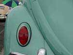Restored VW bug with Stock Turquoise L-380 paint job
