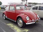 Beautiful 1967 VW bug with stock L456 paint job and roof rack
