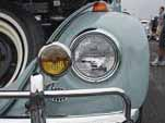 1967 Zenith Blue VW bug with vintage yellow fog lamps