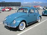 Hard Top Volkswagen bug with wide white wall tires