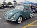 Volkswagen hardtop bug painted stock L390 Gulf Blue