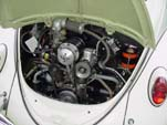 Restored VW bug with a rare vintage Judson Super Charger