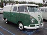 Perfectly Restored Volkswagen Double Cab Pickup With a 2-tone Green Paint Job
