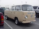 VW Bay Window Double Cab Pickup Truck is a Rare Sight
