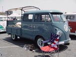 Beautifully Restored Dove Blue Volkswagen Truck is a Rare Binz Double Cab Conversion