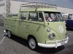 Sharp VW Double Cab Pickup Has a Full Bus Roof Rack and Rare Jade Green (#L349) Paint Job