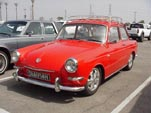 VW Notchback Sedan painted bright red