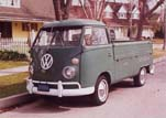 1966 Volkswagen Single Cab Pickup Painted Stock L512 Velvet Green Color