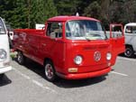 Stunning VW Bay Window Single Cab Pickup truck painted bright red
