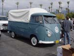 Sharp Early VW Pressed Bumper Single Cab Pickup in L-31 Dove Blue Stock Color