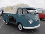 VW Single Cab Pickup with classic swing-out Safari Windows up front