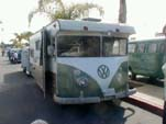 Original Volkswagen bus turned into a home made camper motor home
