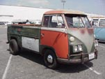 Wild customized Volkswagen single cab pickup with dual pod headlights