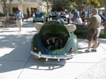 Restored VW oval window bug convertible