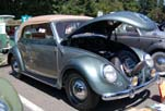 Completely restored 1954 Volkswagen convertible bug