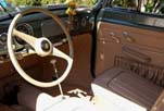 Photo shows the newly completed interior upholstery in the restored 1954 Volkswagen convertible bug