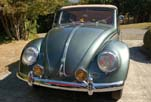 Front view of the restored 1954 Volkswagen convertible bug