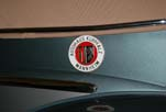 Rare Mannheim accessory badge insta1led on the restored Volkswagen convertible bug