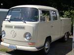 VW Bay Window Double Cab Pickup Truck in original L282 - Lotus White
