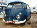 VW Bone Yard With Split Window Volkswagen Bus With Front End Damage