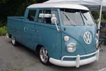 Awesome VW Double Cab Pickup is Painted Dove Blue with a White Top