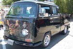 Cool VW Bay Window Double Cab Pickup With an Awesome Custom Black Paint Job