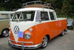 Awesome VW Double Cab Pickup With Safaris and Chrome Bumpers, is Painted Bright Orange and White