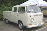 Showroom Stock VW Bay Window Crew Cab Pickup Truck is Very Original with Stock L-87 Pearl White Paint Job