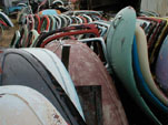 Volkswagen Junk Yard with a large collection of original VW Bug Hoods