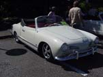 Cool VW Karmann Ghia Convertible with Porsche Rims