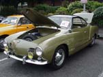 Vintage VW Karmann Ghia in With 2 tone green paint scheme