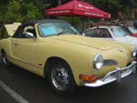 Great Looking Yellow VW Karmann Ghia Convertible